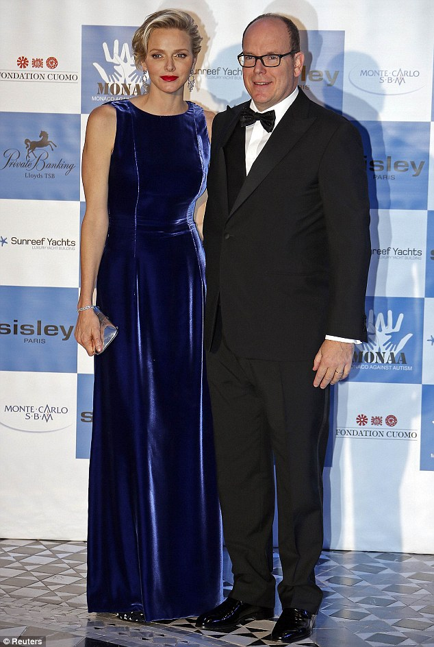 Princess Charlene Of Monaco Stuns In A Sapphire Gown At