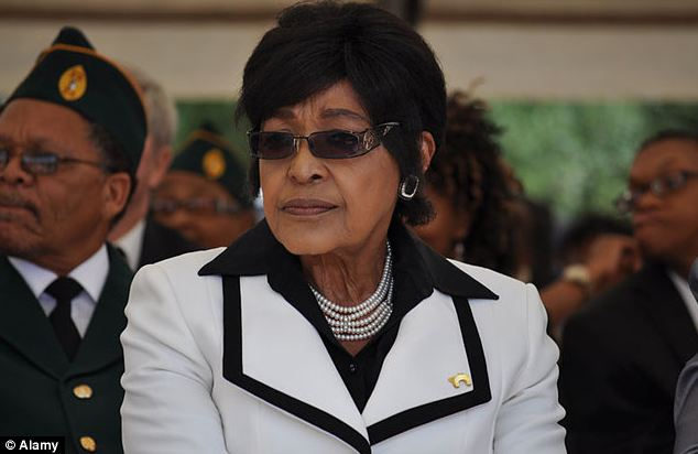 Concern: The Nobel Peace Prize winner's former wife Winnie Madikizela-Mandela, pictured, said this week that Mandela remains 'quite ill'