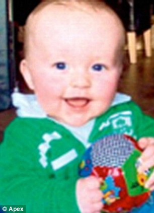 Crash victim: Oisin, aged 16 months, was killed in the accident on the last day of his family's holiday in England