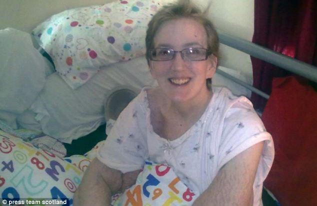 When she was hospitalised after a bad fall and her weight continued to balloon, she underwent tests which revealed a tumour on her adrenal gland. She is pictured in hospital after having the tumour removed