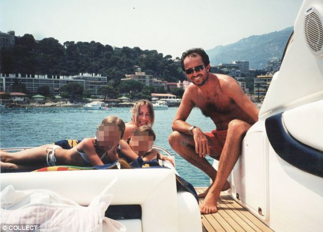 Five star family fun: Scot and Michelle with daughters Sasha and Scarlet on holiday in the Mediterranean in 2000