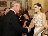Where does one look? Jessie J wore a very daring top to meet Prince Charles at the Royal Variety Performance  on Monday evening