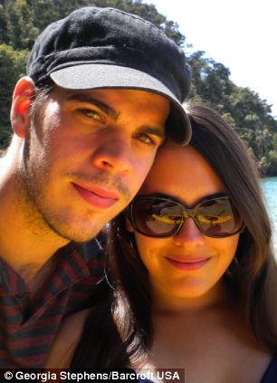 British tourist Georgia Stephens and her boyfriend Martin Coppens in the Abel Tasman National Park in New Zealand