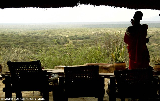 William has spent much time with the Samburu in recent years when staying on the Lewa wildlife conservancy at the foothills of Mount Kenya. He and his wife also got engaged at a lodge (pictured) nearby