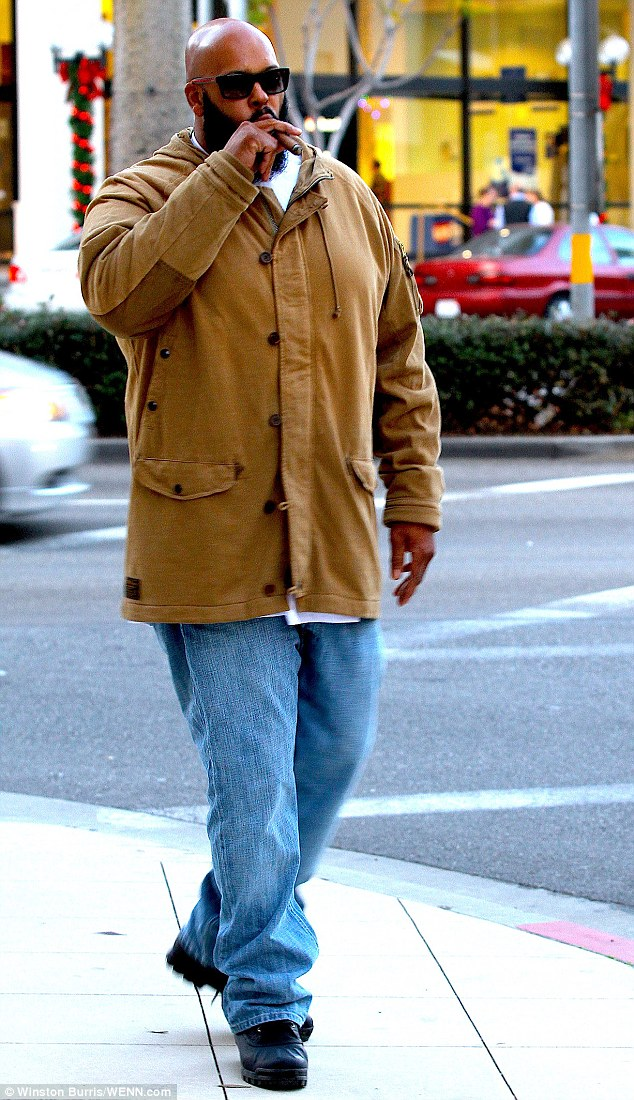 Wrong man: Suge Knight (pictured here in December 2012) was reportedly pulled over by Los Angeles police in a case of mistaken identity on Friday