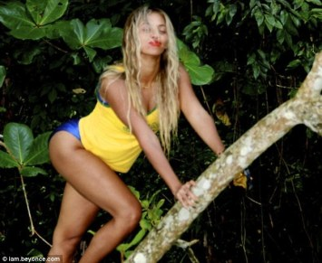 Athletic: As well as relaxing on the vacation, Beyoncé stayed active with a spot of tree-climbing