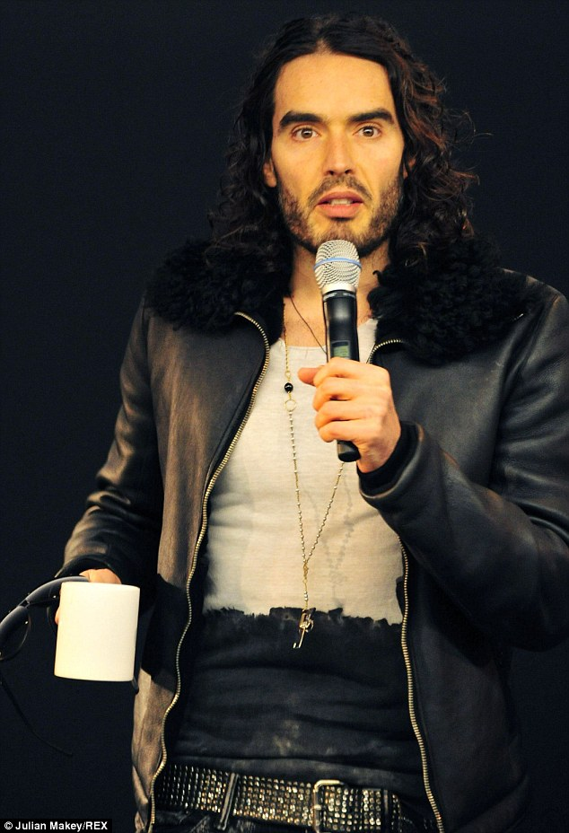 He likes to speak up: Russell Brand recently took part in a Meet the Comedian at The Apple Store on Thursday