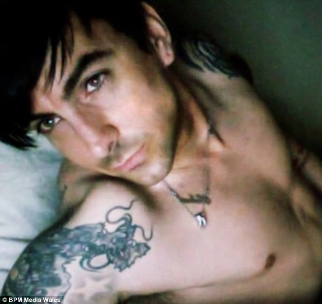 Shocking: Ian Watkins pictured himself performing a sex act in a Skype conversation, where he also begged to abuse the daughter of a fan he was having sex with