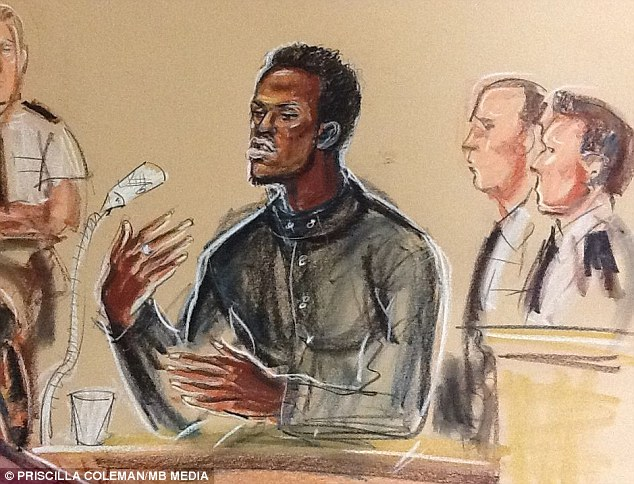 Woolwich trial: Michael Adebolajo was in the dock today where he said he loved Al Qaeda and described his attempts to decapitate Drummer Rigby