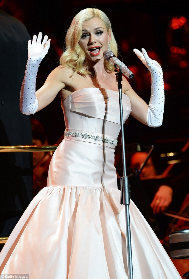 Katherine Jenkins Sizzles In Marilyn Monroe Inspired Dress