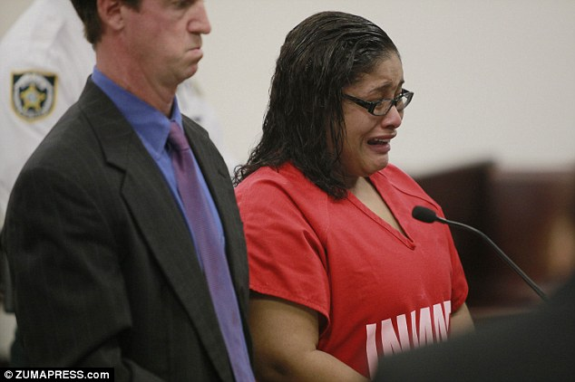 Anderson wept in court as she claimed that she was not a threat to society and was not a predator - but her victim's mother and the judge disagreed