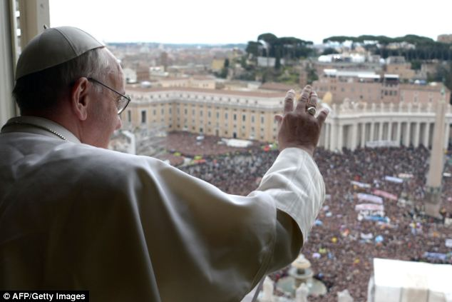 Global power: The sheer number of Catholics in the world helped put Pope Francis' election at number one