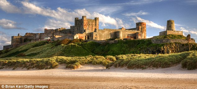Home: Oswald was from the fortress of Bamburgh, whose later replacement is pictured here