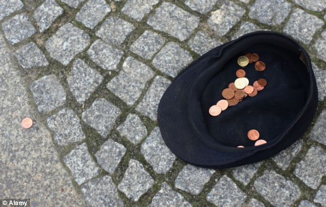Illegal street beggars in one UK city are earning up to £36,000 a year, police revealed yesterday