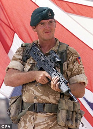 Jailed: Royal Marine Sergeant Alexander Blackman was given a 10-year minimum life sentence