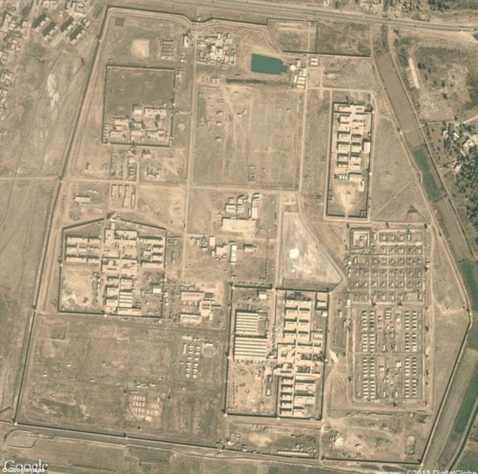 Abu Ghraib Prison: The infamous Iraqi prison where Saddam Hussein held political prisoners, and where U.S. soldiers were later caught torturing inmates. 'When I think of Abu Ghraib I think of photographs and headlines; scandal,' Begley explained