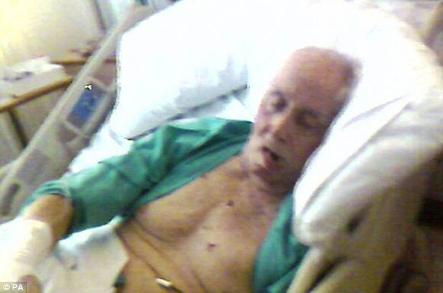 Frail: This picture released by Biggs's lawyers in 2009 shows how ill he was during his last few years