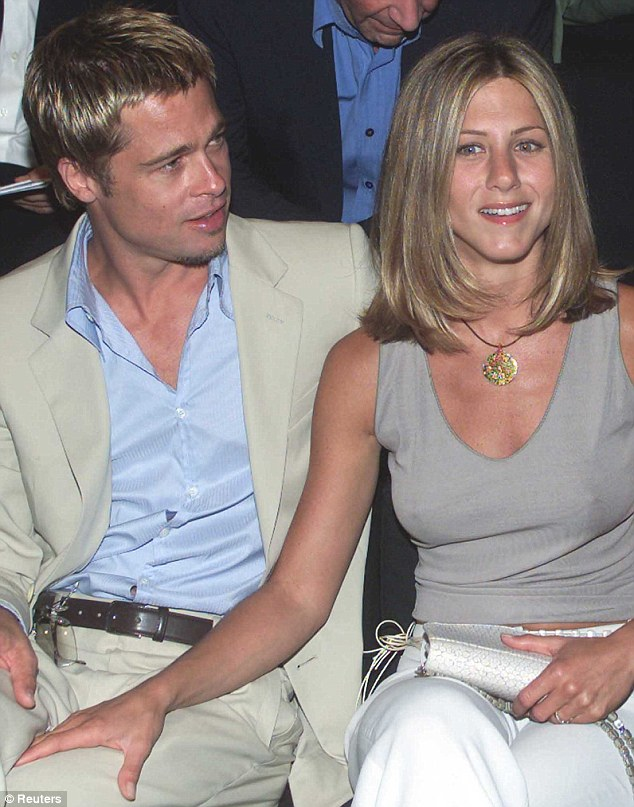 Married man: In 2000, the actor wed Friends star Jennifer Aniston in a Malibu beach ceremony only for the couple to split five years later