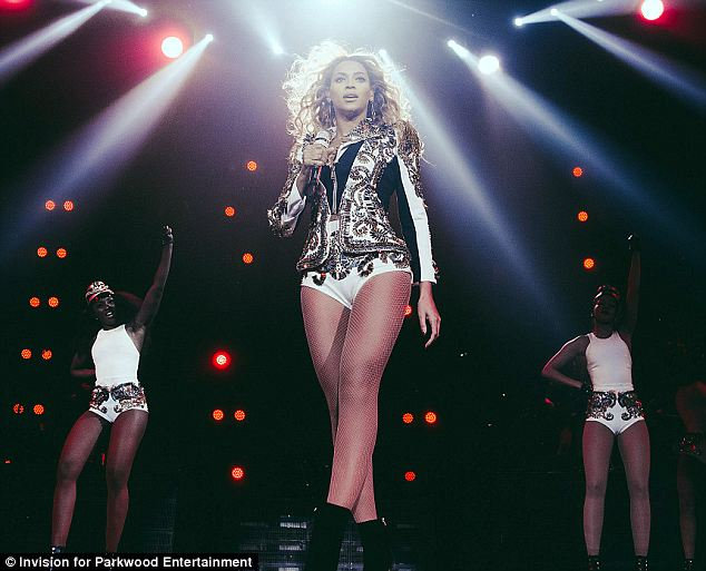 Superstar: Beyonce took her Mrs. Carter World Tour to Washington D.C. on Wednesday