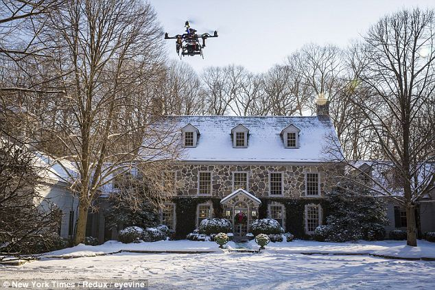 Marketing drones: This $6.1 million Georgian-style Connecticut mansion has gotten the drone treatment. Luxury real estate firm Halstead Properties uses the technology to take video that creates an experience more than simply an impression