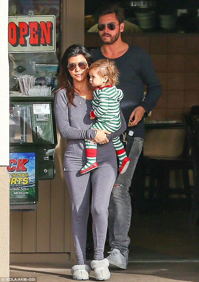 A new pet for Penelope? Presumably Kourtney will be taking responsibility for her new kitten which she showed off on Christmas Day