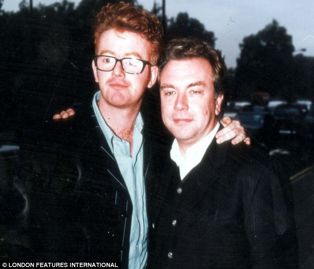 Row: Matthew Bannister, right, fell out spectacularly with Chris Evans, left, over the DJ's working hours
