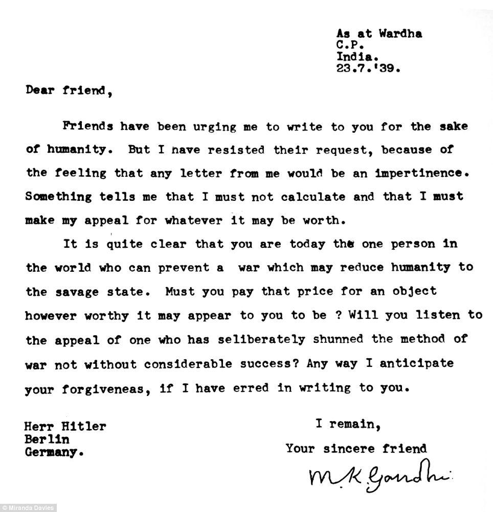 Gandhi Amp Hitler Die Welt Der Briefe