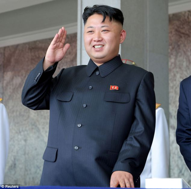 Vicious: Dictator Kim Jong-Un, pictured, shocked the world when he accused his 'scum' uncle of treachery and had him executed