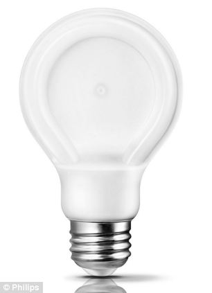 Philips' SlimStyle light bulb, pictured, promises a comparable brightness to a 60W bulb instantly