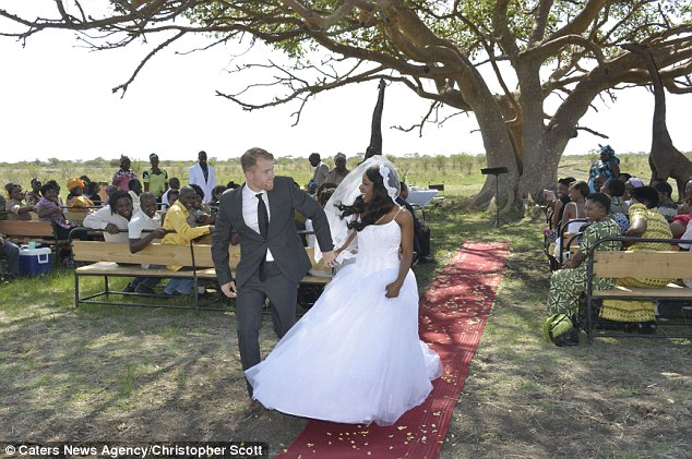 Photos Of A Couples Zimbabwe Wedding Alongside Elephants