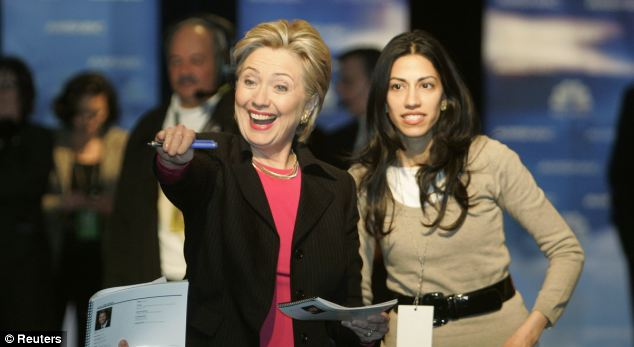Hillary Clinton is seeking advice from several long-time advisers, including long-time insider Huma Abedin (R)