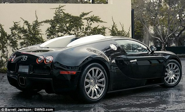 For sale: Cowell's Bugatti will be sold via car auction specialist Barrett Jackson