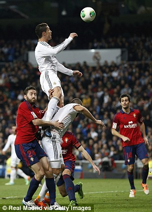 Real Madrid News Now, Cristiano jump reached the height of 3 meters