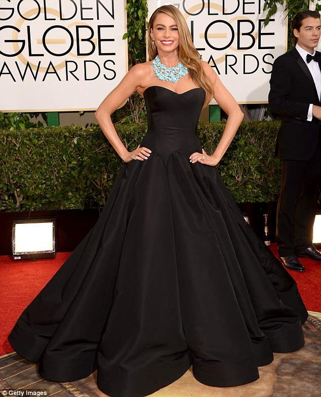 'I feel like I'm wearing a tent': Sofia acknowledged the enormity of her gown