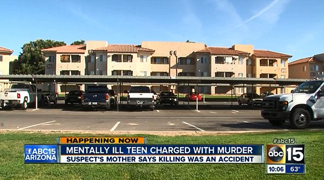 Scene: Jessica Burlew and her mother Tracey Woodside share an apartment in this block in Glendale, Arizona
