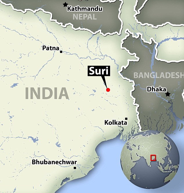 Suri India Kolkata map