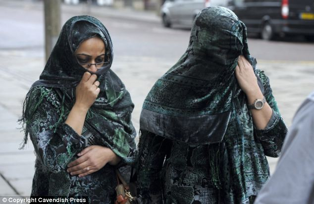 Tosif Ditta (left) and Nayarr Mehmood (right) pictured arriving at Preston Crown Court today