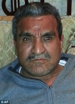Captured: Dionisio Loya Plancarte - one of the founders of the Knights Templar drug cartel known as 'The Uncle' - has been arrested after police found him hiding in a closet in Morelia, the capital of Michoacan
