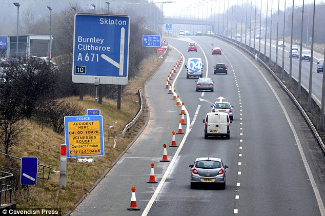 Scene: The inquest heard that Lena spent up to two hours wandering around the motorway before she died