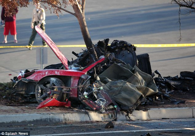 Tragic: Paul perished alongside his friend Roger Rodas on November 30, when the car they were travelling in lost control and crashed in Santa Clarita, California