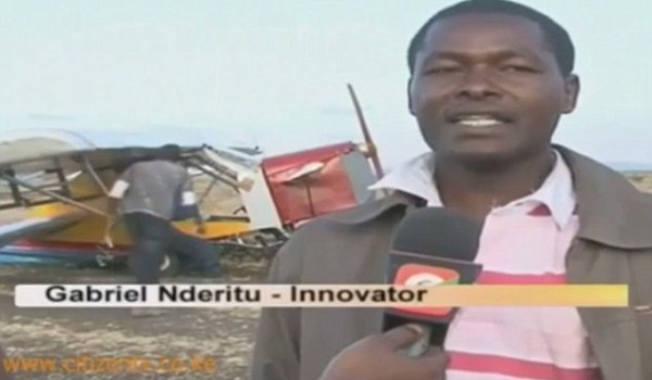 Must try harder: Mr Nderitu told an interviewer he would go back and study how landing gear worked