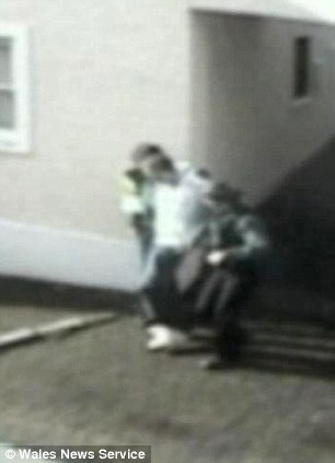 A CCTV still of Steven Williams being arrested
