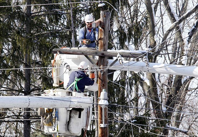 Snowed in: More than 1 million customers lost power at the ice storm's peak