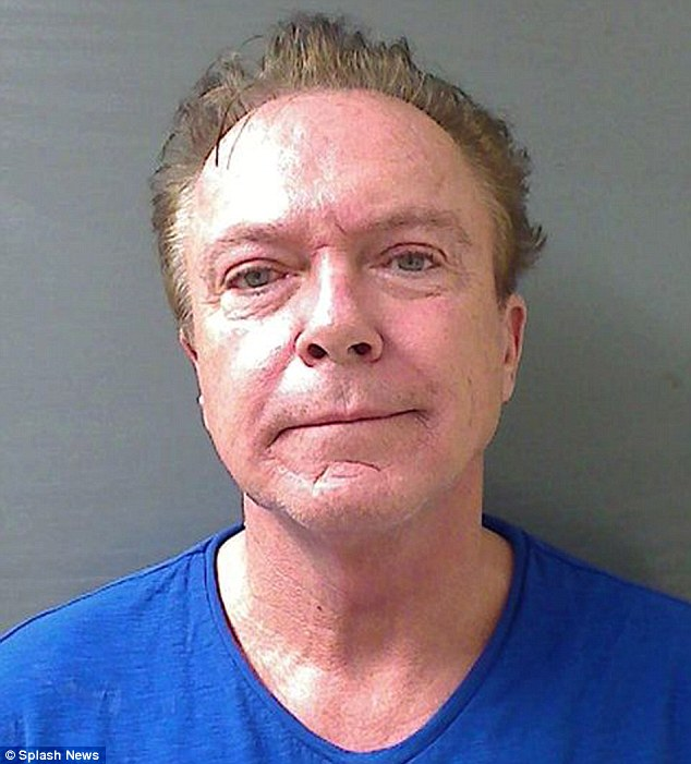 Mugshot: David was arrested for DUI for the third time in January. He is now in rehab