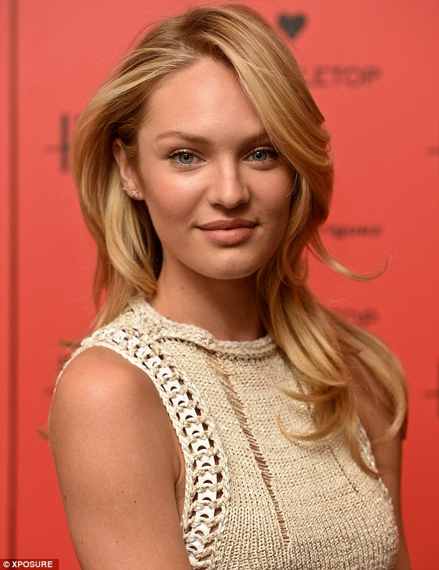 Candice Swanepoel Wears Nude Knitted Dress To Launch New