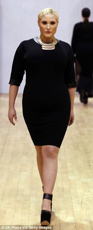 Hayley Hasselhoff was one of the curvy models to open the show on Friday