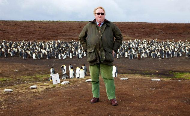 Simon Heffer en las Malvinas.  Mientras que en una visita a Port Stanley, encontró las islas preparación para el cambio