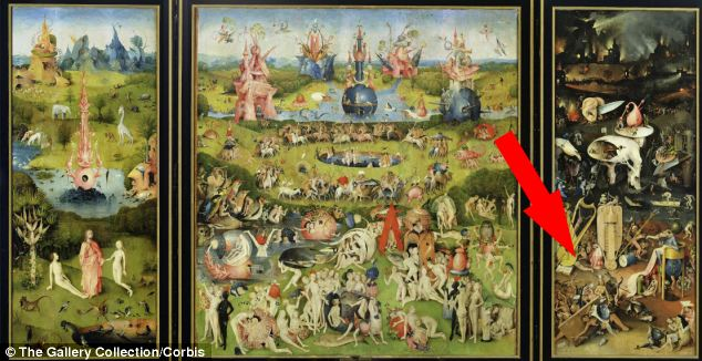 Dutch master Hieronymus Bosch's paintings are packed full of vivid imagery and complex meanings. And The Garden of Earthly Delights (pictured) which depicts the Biblical narrative of creation, heaven and hell is one of his most intricate