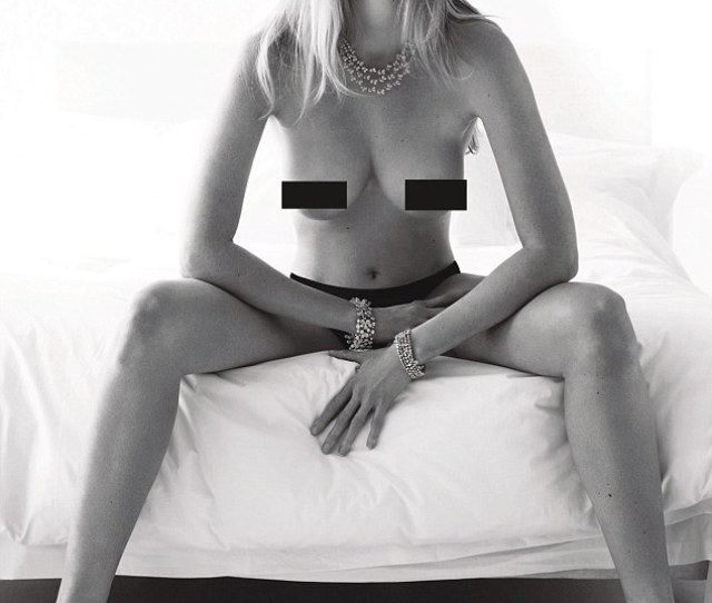 Blonde Beauty Lara Stone Was Pictured Sitting On The Edge Of The Bed With Her