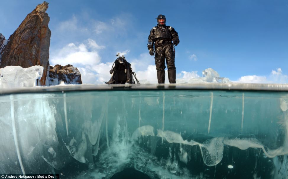 Photographer Andrey Nekrasov Captures Divers In Lake
